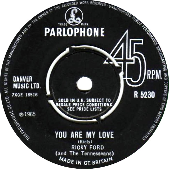 Ricky Ford and the Tennesseans- You are my love - Parlophone